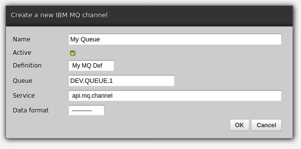 Zato web-admin channel creation form