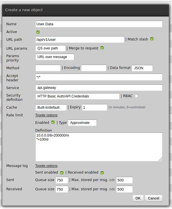 Zato Dashboard REST channel creation form