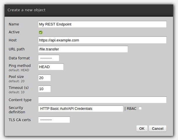 Scheduler form in Zato web-admin