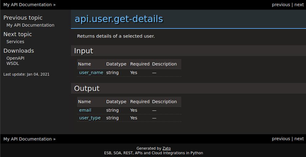 Auto-generated API documentation service file