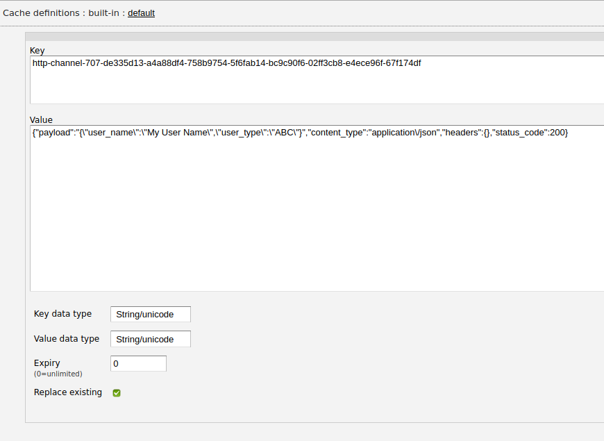 Zato web-admin built-in cache entry details