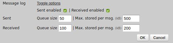 Zato web-admin channel's message log definition